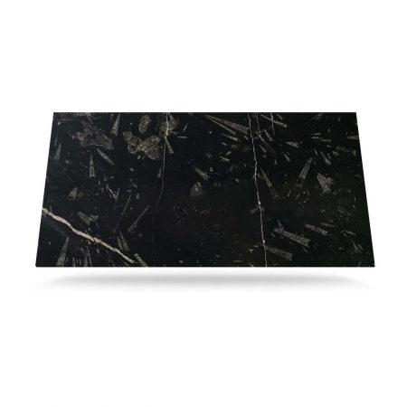 Pietra Mármol Fossil Black Leather